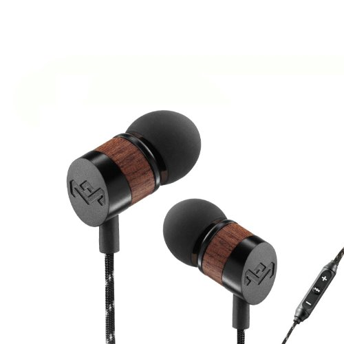 House Of Marley Em-Je033-Mi Uplift Midnight In-Ear Headphones With Apple Three-Button Controller