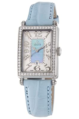 Gevril Women's 7247NL Mini Quartz Avenue of Americas Blue Diamond Watch