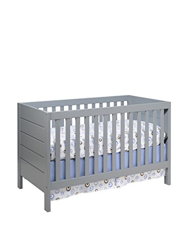 Babyletto Kid's Modena 3-in-1 Convertible Crib with Toddler Bed Conversion Kit, Grey
