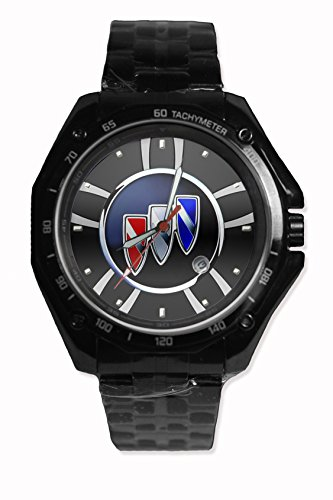 New Custom Buick Car Logo Sport Watch Stainless Steel Black Alloy