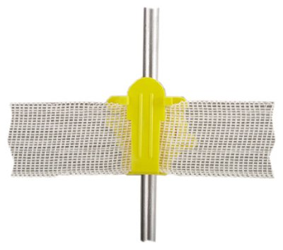 Dare Products 2336-25 Electric Fence Insulator, Round Post, Western Style, Yellow - Quantity 10