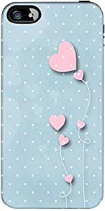 Snoogg Pink Balloons Blue Dots Designer Protective Back Case Cover Forapple I...