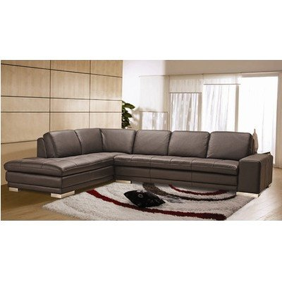 Block Leather Sectional Orientation: Left Chaise front-154960