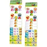 Elmo Sticker - 4 Sticker Sheets Assorted designs (Sesame Street Reward Stickers) by All Wrapped Up