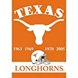 (28x40) NCAA Texas Longhorns 2-Sided Championship Years Banner Flag with Pole Sleeve Wall Scroll