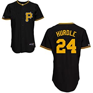 Clint Hurdle Pittsburgh Pirates Alternate Black Replica Jersey by Majestic by Majestic