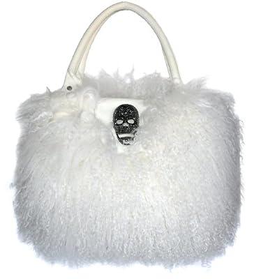 Waooh - Fourrure - Sac à main en laine de chameau de mongolie - Blanc