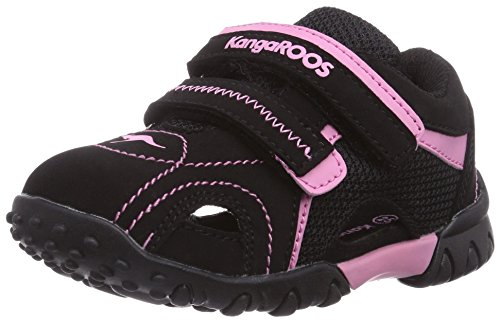 KangaROOS Inscore 2076, Sneaker per neonati bambino, Nero (Schwarz (black/pink 563)), 27