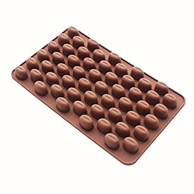 Blovess 55 Cavity Silicone Coffee Beans Mold Chocolate Candy Ice Cube Tray Cake Decoration Bakeware Mould Maker
