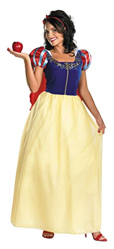 Disguise Womens Disney Snow White Deluxe Princess Fancy Dress Halloween Costume