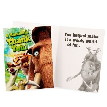 Ice Age Thank You Notes 8ct - 1
