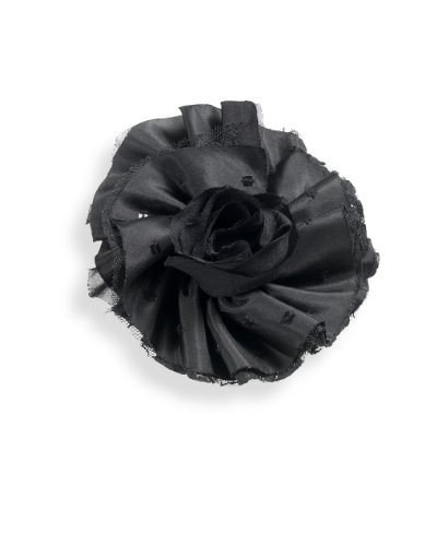 Beaded Satin And Lace Flower Brooch