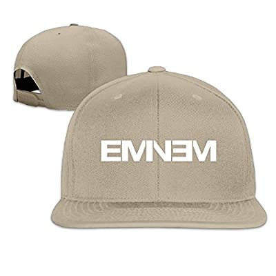 CEDAEI Eminem Double M M&M Rapper Record Producer Songwriter Actor Flat Bill Snapback Adjustable Hiking Cap Hat Natural