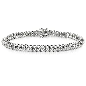 Sterling Silver 1 CT TDW Diamond Bracelet (I3)