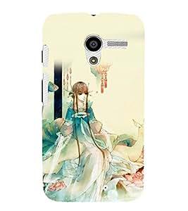printtech Cute Beautiful Anime Girl Back Case Cover for Motorola Moto X XT1058 / Motorola Moto X (1st Gen)