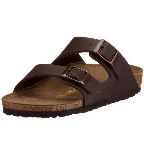 Birkenstock womens Arizona in dark brown from Birko-Flor Sandals 39.0 EU N (Birkenstock Sandals Women 39 compare prices)