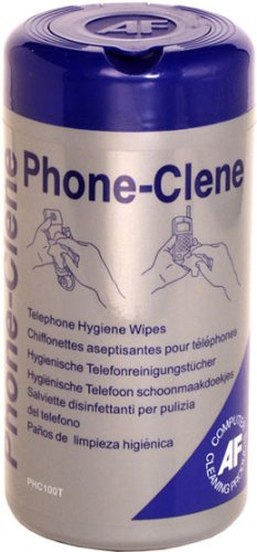 af-phone-clene-wipes-cleaning-for-telephone-bactericidal-wipes-ref-phc100t-tub-of-100