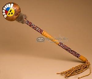 native american creek indian gourd rattle 18 126 musical instruments. Black Bedroom Furniture Sets. Home Design Ideas
