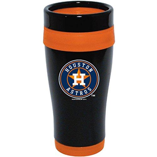 MLB Houston Astros Stainless Steel Travel Tumbler, 16 oz., Black