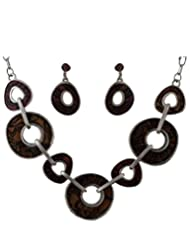 Anuradha Art Fancy Brown Necklace Set For Women - B014DAE10C
