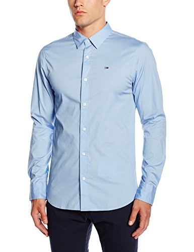 Hilfiger Denim Slim Fit 1957888891 - Camicia da Uomo, Colore Blue (Lavender Lustre), Taglia medium