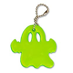 funflector Halloween Safety Reflectors - Ultra Bright and Stylish Reflective Gear for Halloween Safety Ghost - Neon Green