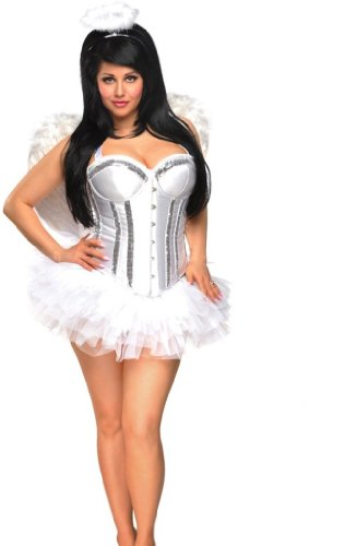 Daisy corsets Women's Angel Halloween Costume (4 Piece)