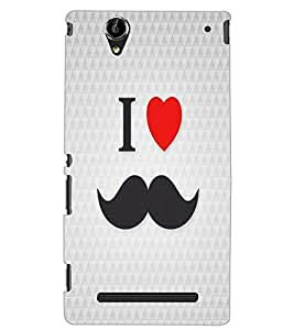 SONY XPERIA T2 I LOVE MUSTACHES Back Cover by PRINTSWAG