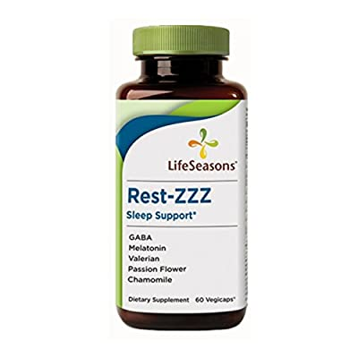 LifeSeasons Rest-ZZZ Herbal Sleep Support, 60 Vegicaps