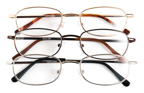 Optx 20/20 Alpha Alloy Readers, Metal Readers +450, (Pack of 3) (Readers 450 compare prices)