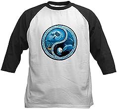 Royal Lion Kids Baseball Jersey Dolphin Fish Ocean Yin Yang Symbol