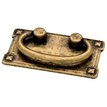 Liberty 62076AB 3-Inch Horizontal C-C Bail Kitchen Cabinet Hardware Drawer Handle Pull, Antique Brass