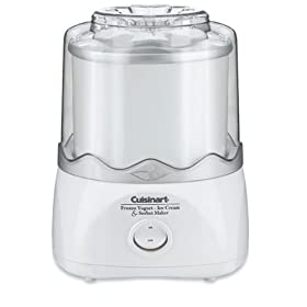 Factory Reconditioned Cuisinart ICE-20FR Automatic Frozen Yogurt-Ice Cream & Sorbet Maker, White
