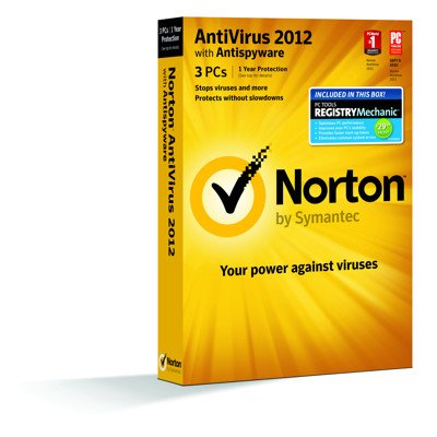 Norton Antivirus 2012 3 PC + PC Tools Registry Mechanic