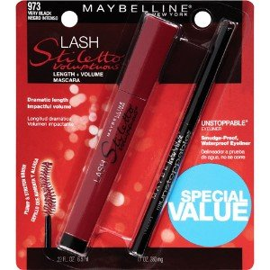 Cheapest Maybelline Lash Stiletto Voluptuous Mascara/eyeliner, 973 Very Black by Maybelline - Free Shipping Available