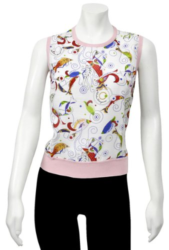 Salvatore Ferragamo Pink Knit Sleeveless Vest 11-8350PK Small