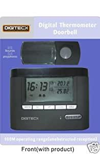 A7A-WIRELESS 32 MELODY DIGITAL THERMOMETER DOORBELL & CLOCK [Electronics]