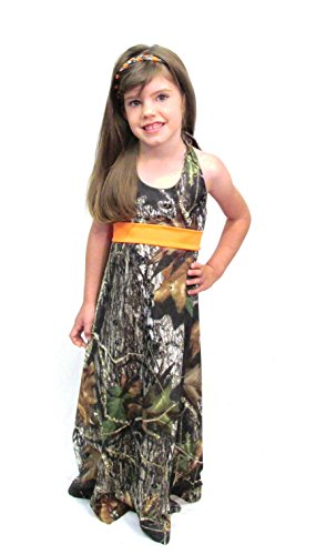 Camo Diva Katelyn Toddler and Youth Girls Camo Dress (Small (6 - 6X), Blaze Orange) (Toddler Mossy Oak Flower Girl Dress)