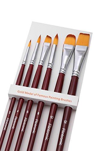 flintronic-6-piezas-pinceles-de-pintura-profesional-conjunto-para-acrilico-acuarela-y-pintura-al-ole