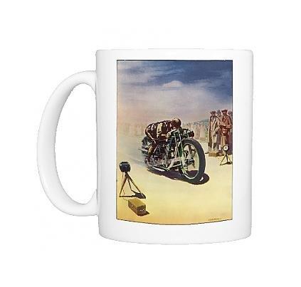Photo Mug Of Timing A Motor Cycle