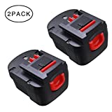 GERIT-- 2Packs 18V 2.0Ah Black and Decker Replacement Battery for Power Tool HPB18 244760-00 A1718 A18 HPB18 NST2118 HPB18-OPE FS18FL FSB18 Firestorm FS180BX FS18BX A18