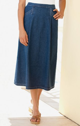 Vintage Denim Pleated Skirt / Vintage Denim Pleated Skirt, Chambray, 8