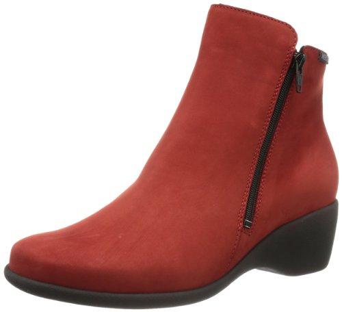 Mephisto MANOLIA BUCKSOFT 6901 RED P5109187, Stivaletti donna, Rosso (Rot (RED BUCKSOFT 6901)), 40