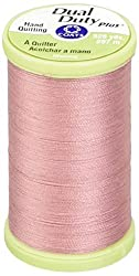 Coats Thread & Zippers Dual Duty Plus Hand Quilting Thread, 325-Yard, Almond Pink