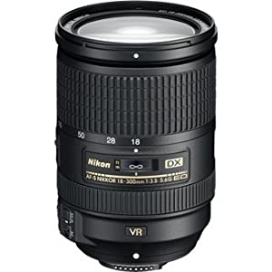 Nikon AF-S DX NIKKOR 18-300mm f/3.5-5.6G ED Vibration Reduction Zoom Lens with Auto Focus for Nikon DSLR Cameras