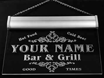 u25385 r lapin family name bar bar grill home beer beer food neon sign enseigne. Black Bedroom Furniture Sets. Home Design Ideas