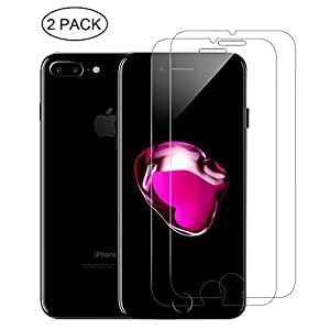 2-Pack GLASS-M iPhone 7 Plus Screen Protector , HD Clear Tempered Glass Screen Protector for iPhone 7 Plus Anti-Bubble Shield (iPhone 7 Plus 5.5 inch)