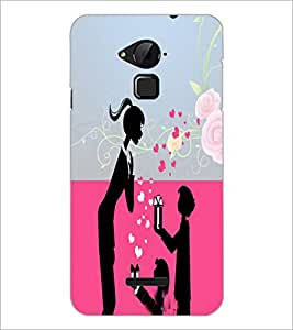 PrintDhaba Love D-4985 Back Case Cover for COOLPAD NOTE 3 LITE (Multi-Coloured)
