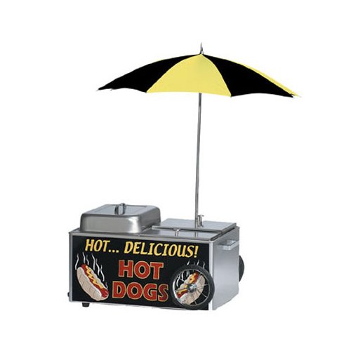 Gold Medal 8080 Hot Dog Steamer Cart, Table Top, 50 Hot Dogs, 35 Buns, Stainless, Each