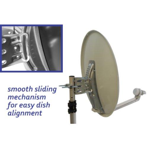 Satgear 54cm Portable Satellite Kit with Easyfind - Off-White Dish